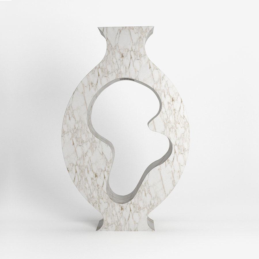 Emilie-carrara-marble-vase-dellostudio