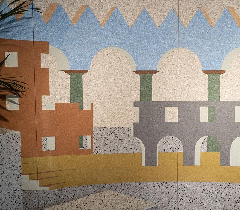 marmomac 2018 wall terazzo project