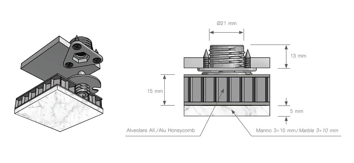 sistema-fissaggio-soffitto-marmo-alleggerito-alveolare