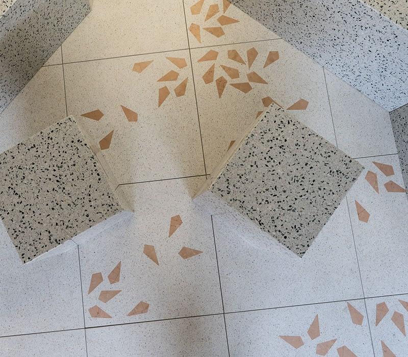 customisable floor terazzo project