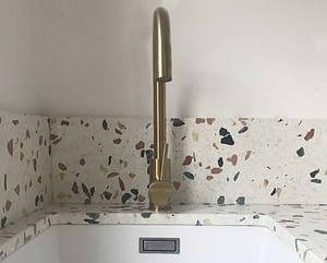 lavabo in terrazzo per top cucina